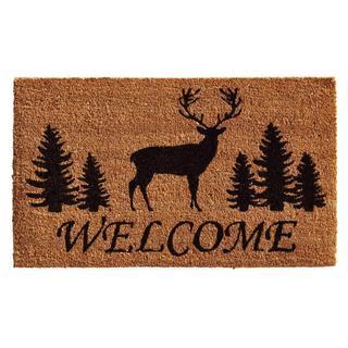 Elk Forest Welcome Coir with Vinyl Backing Doormat (1'5 x 2'5)