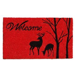 Winter Welcome Coir with Vinyl Backing Doormat (1'5 x 2'5)
