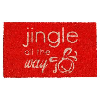 Jingle all the Way Coir with Vinyl Backing Doormat (1'5 x 2'5)