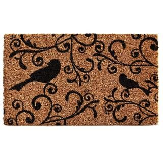 Raven Beauty Coir with Vinyl Backing Doormat (1'5 x 2'5)