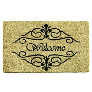 Classic Welcome Coir with Vinyl Backing Doormat (1'5 x 2'5)