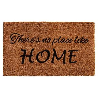 No Place Like Home Coir with Vinyl Backing Doormat (2' x 3')