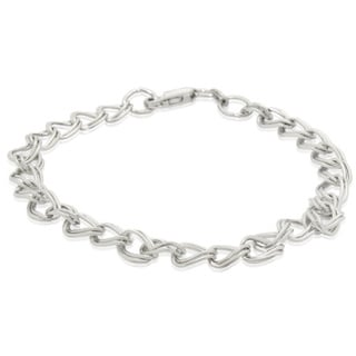 Gioelli Sterling Silver High Polish Double Oval Link Bracelet