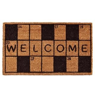 Crossword Welcome Coir with Vinyl Backing Doormat (1'5 x 2'5)
