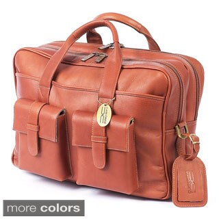 Claire Chase Platinum Leather Briefcase