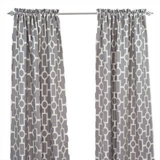 Ellington Smoke Rod Pocket Curtain Panel