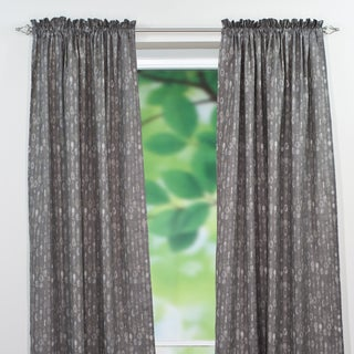 Amba Grey Dossett Rod Pocket Curtain Panel