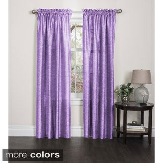 Elise Faux Silk 84-inch Curtain Panel Pair