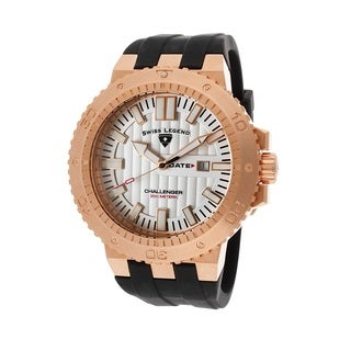 Swiss Legend Men's SL-10126-RG-02S Challenger Silvertone Watch