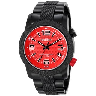 Red Line Men's RL-50043-BB-55 Octane Red Dial Watch