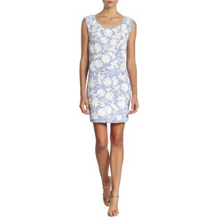 Free People Sequin Floral Periwinkle Cocktail Party Dress