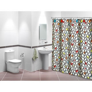 Sofia Design Shower Curtain with Matching Hook Set