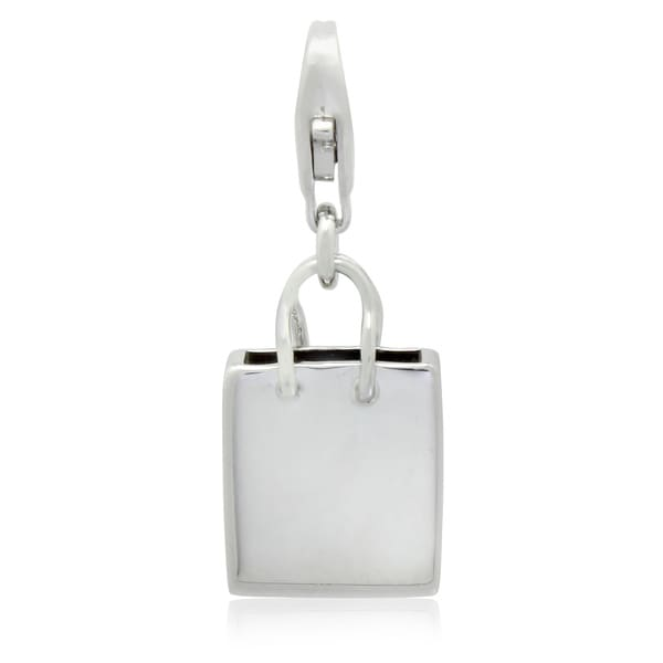 Gioelli Sterling Silver Shopping Bag Charm