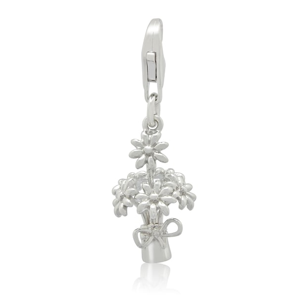 Gioelli Sterling Silver Bouquet of Flowers Charm