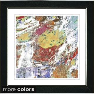 Studio Works Modern Zhee Singer 'White Pachigam' Framed Fine Art Print