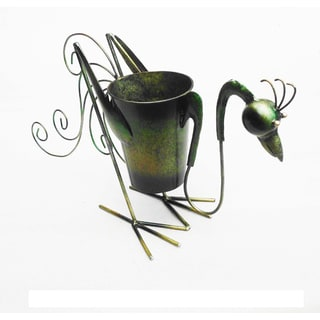 Iron Rooster Planter Decor (Indonesia)