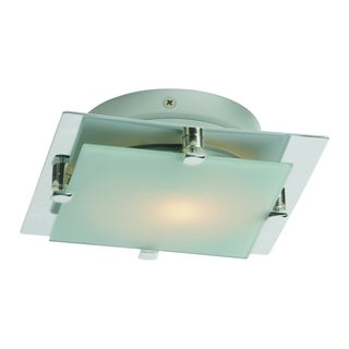 Piccolo LED Nickel Metal 1-light Flush Mount