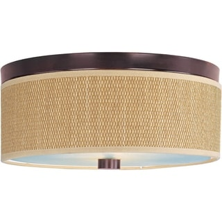 Elements Bronze Metal 2-light Flush Mount