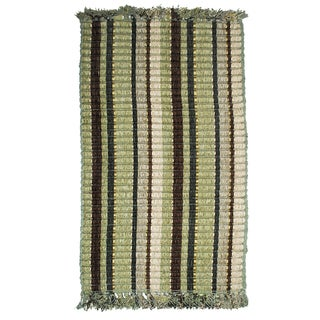 Royal Classics Ribbed Green Woven Accent Rug (1'9 x 2'10)
