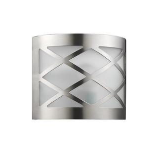 Chloe Lighting Transitional Patterned Brushed Nickel 1-light Wall Sconce