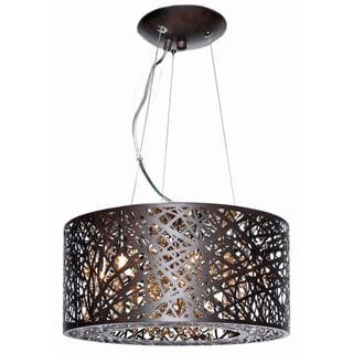 Inca Bronze Metal/ Steel 7-light Single Pendant