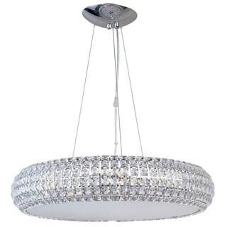 Bijou Chrome Metal 8-light Single Pendant