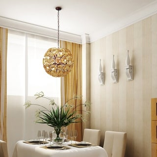 Cassini Bronze Metal 20-light Single Pendant