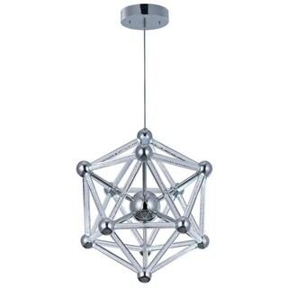 Polygon Chrome 60-light Acrylic Single Pendant