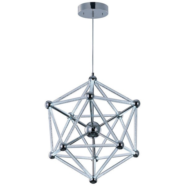 Polygon 60-light Chrome Acrylic Single Pendant