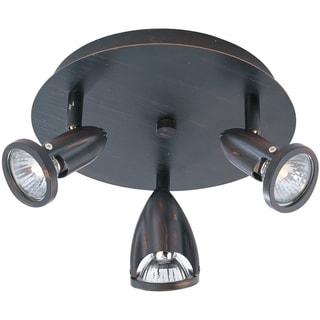 Agron Bronze Metal 3-light Flush Mount