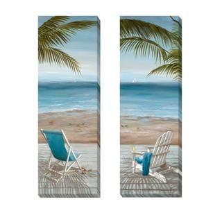 Nan 'Walk on the Beach I and II' 2-piece Canvas Set