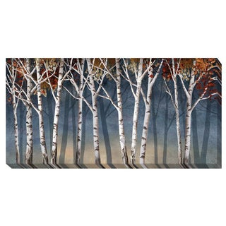 Conrad Knutsen 'Birch Shadows' Canvas Art