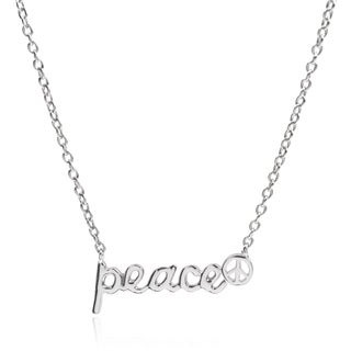 Journee Collection Sterling Silver Cubic Zirconia Peace Pendant