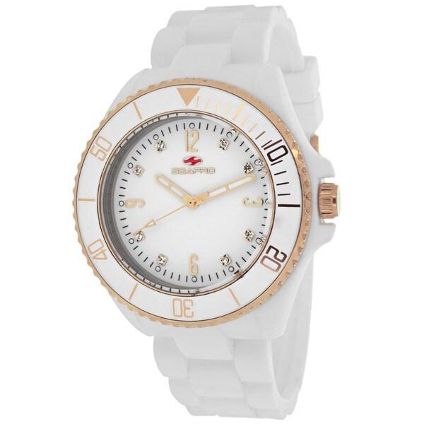 Seapro Women's SP7413 Bubble Round White Strap Watch