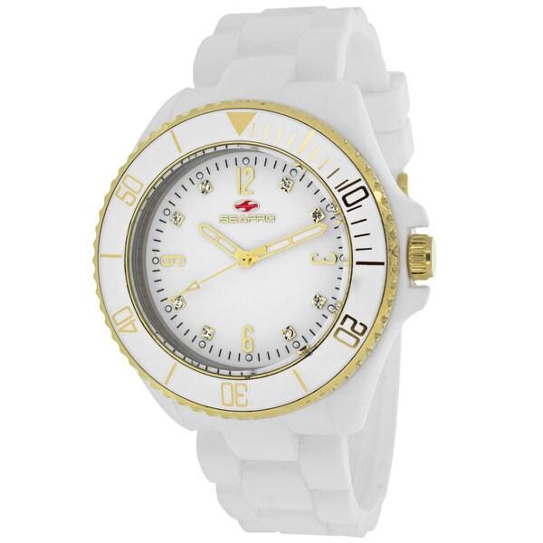 Seapro Women's SP7411 Bubble Round White Strap Watch