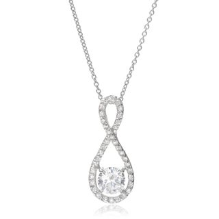 Journne Collection Sterling Silver Cubic Zirconia Teardrop Pendant