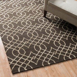 Hand-Hooked Carolyn Curved Trellis Rug (7'6 x 9'6)