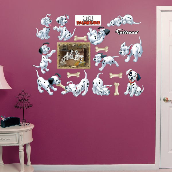 Fathead 101 Dalmations Puppy Collection Wall Decals