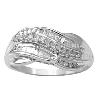 Sterling Silver 1/3ct TDW Diamond Ring (H-I, I2-I3)