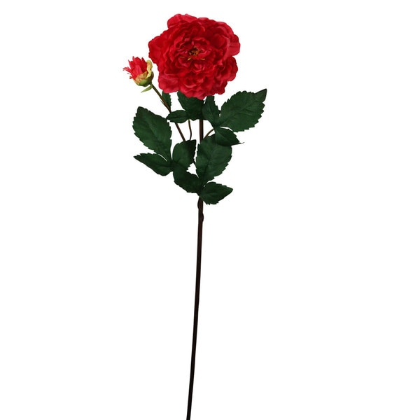 Burgundy 33-inch Peony Spray Decorative Flower (Set of 12)