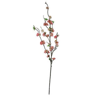 Blush 30-inch Peach Blossom Spray Decorative Flower (Set of 12)