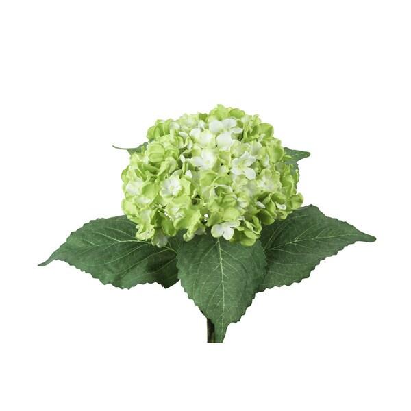 Green 34-inch Jumbo Hydrangea Decorative Flower Stem (Set of 12)