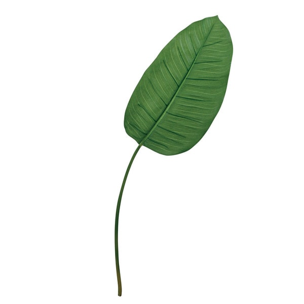 Green 31-inch Banana Leaf Decorative Flower (Set of 12)