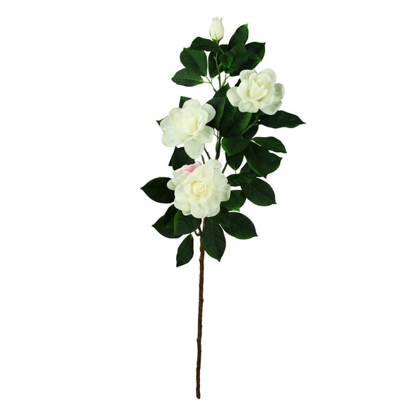 White 33-inch Camellia Spray Decorative Flower (Set of 12)