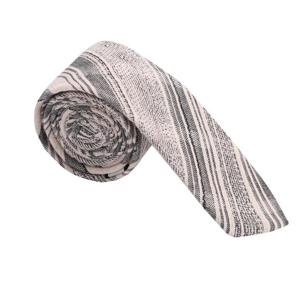 Skinny Tie Madness Men's Grey Cotton Skinny Tie