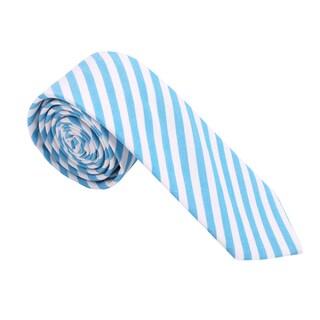 Skinny Tie Madness Men's Cotton Striped Skinny Tie