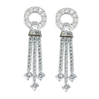 Michael Valitutti Cubic Zirconia Drop Dangle Earrings