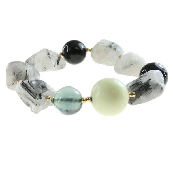 Michael Valitutti Multi-stone Stretch Bracelet