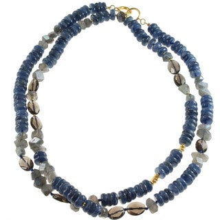 Michal Valitutti Sterling Silver Kyanite, Labradorite and Smokey Necklace