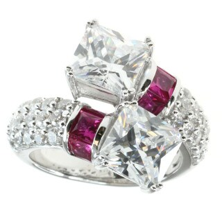 Michael Valitutti Sterling Silver Prong-set Cubic Zirconia Ring
